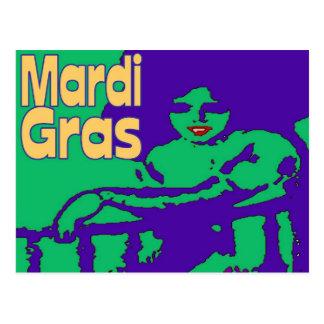 Carte Postale Masquage de mardi gras