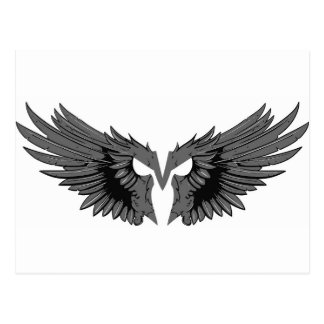 Carte Postale Masque avec des ailes