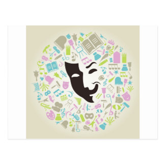 Carte Postale Masque d'art
