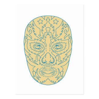 Carte Postale Masque de Luchador Lucha Libre