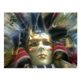 Carte Postale Masque de mascarade de couleurs