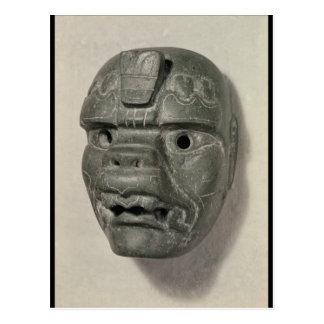 Carte Postale Masque félin d'un homme, d'Oaxaca, précolombien