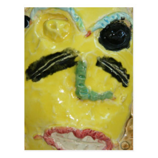 Carte Postale Masque jaune
