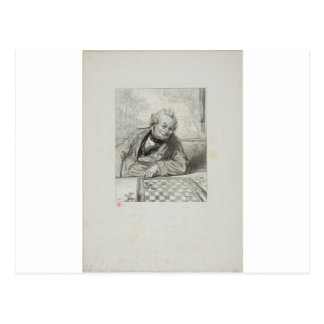 Carte Postale Masques et visages : Gardant une reine, vous voyez