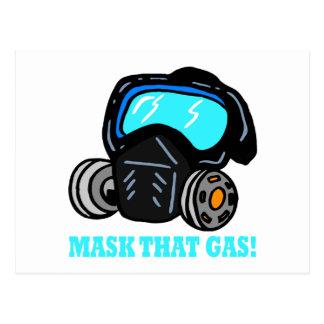Carte Postale Masquez ce gaz