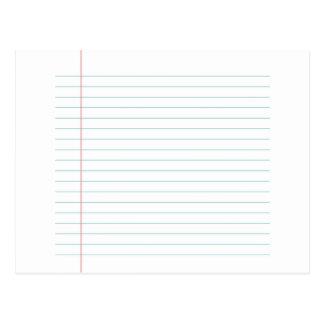 Carte Postale Masquez le papier rayé
