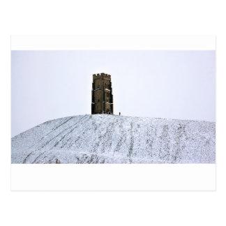 Carte Postale Massif de roche de Glastonbury en hiver