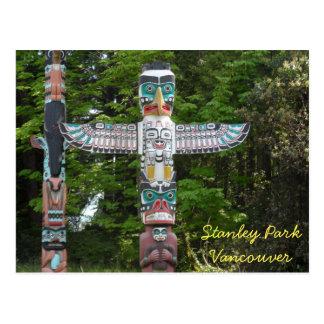 Carte Postale Mâts totémiques - parc de Stanley, Vancouver