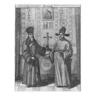 Carte Postale Matteo Ricci et Paulus Li