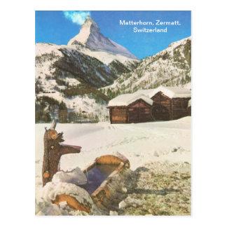 Carte Postale Matterhorn, Zermatt, Suisse