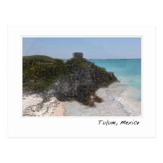 Carte postale maya d'océan de ruine de Tulum