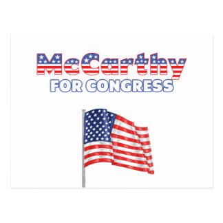 Carte Postale McCarthy pour le drapeau américain patriotique