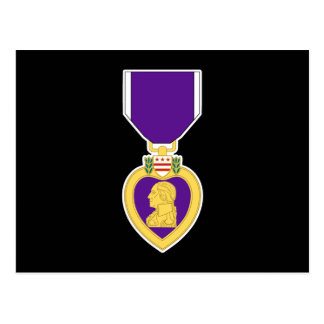 Carte Postale Médaille noire de Purple Heart