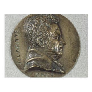 Carte Postale Médaillon avec un portrait de Jacques Lafitte