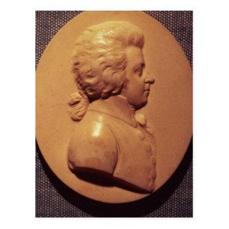Carte Postale Médaillon de portrait de Wolfgang Amadeus Mozart
