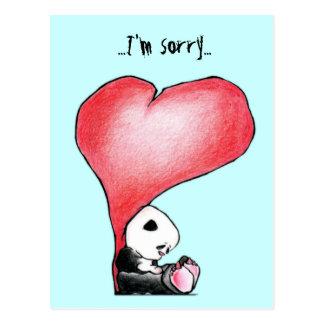 Carte Postale Megg : Un panda mignon - coeur, je suis désolé,