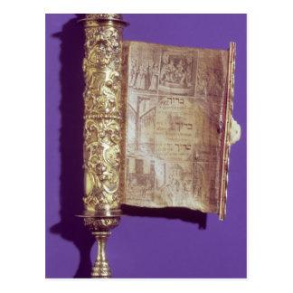 Carte Postale Megillah dans un cas argenté, Vienne, c.1715
