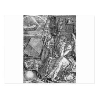 Carte Postale Mélancolie par Albrecht Durer