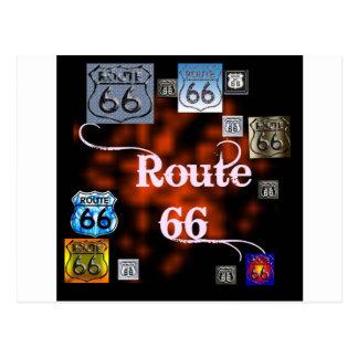 Carte Postale Mélange de l'itinéraire 66