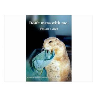 Carte Postale Meme trapézoïdal de régime de chien de prairie