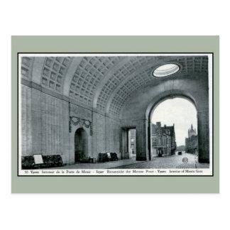 Carte Postale Mémorial de porte de Ypres Menin pour l'intérieur