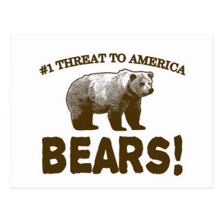 Carte Postale Menace #1 vers l'Amérique : Ours !