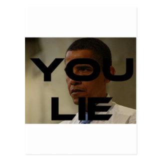 Carte Postale Mensonges d'Obama