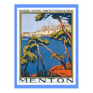 Carte Postale Menton vintage France