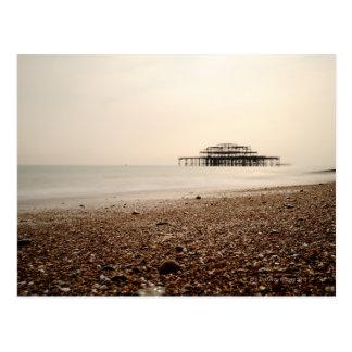 Carte Postale Mer à la plage de Brighton