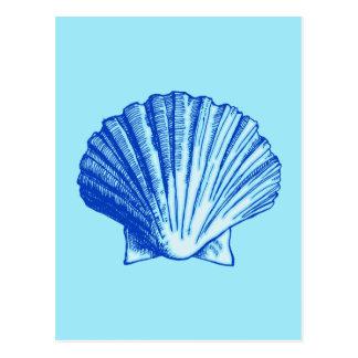 Carte Postale Mer bleue Shell de Bimini