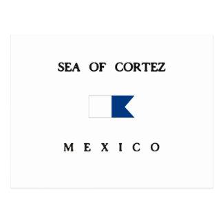 Carte Postale Mer d'alpha drapeau de piqué de Cortez Mexique
