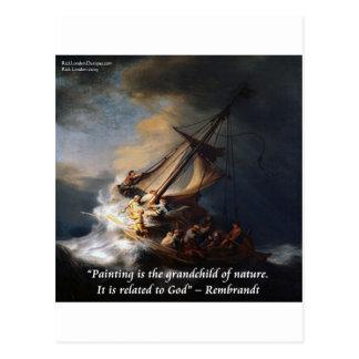 Carte Postale Mer de Rembrandt de citation de la Galilée et de