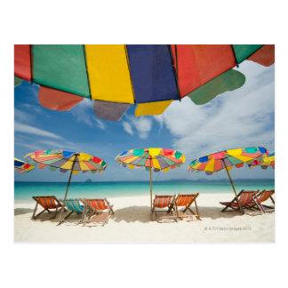 Carte Postale Mer tropicale de plage et de turquoise de sable. 2