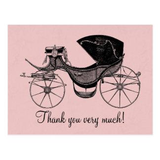 Carte Postale Merci de princesse baby shower
