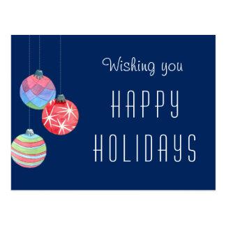 Carte Postale Merci de salutation de vacances d'entreprise