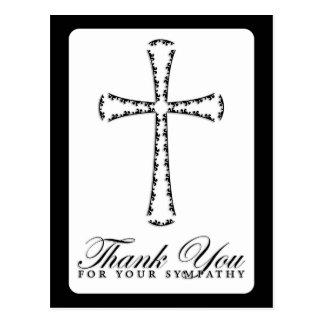 Carte Postale merci de votre sympathie (la croix élégante)
