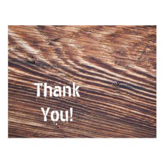 Carte Postale Merci en bois de grain