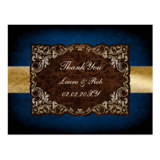 """Carte Postale Merci majestueux rustique de mariage """"de bleu"""