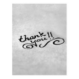 Carte Postale Merci manuscrit