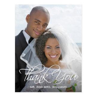 Carte Postale Merci préféré de photo de mariage