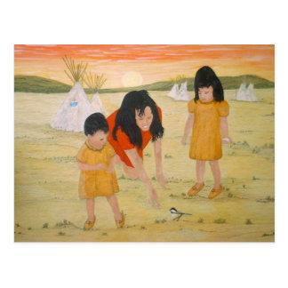 Carte Postale Mère indienne avec des filles