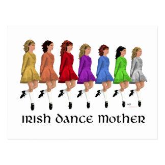 Carte Postale Mère irlandaise de danse d'étape - ligne