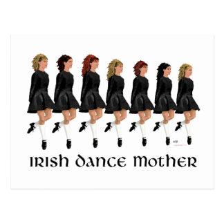 Carte Postale Mère irlandaise de danse d'étape - ligne des