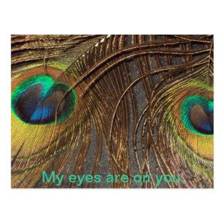 Carte Postale Mes yeux sont sur vous