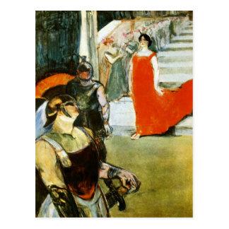 Carte Postale Messalina descendant par Toulouse-Lautrec