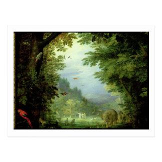 Carte Postale Mettez à la terre ou le paradis terrestre, détail