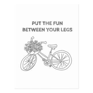 Carte Postale Mettez l'amusement entre vos jambes
