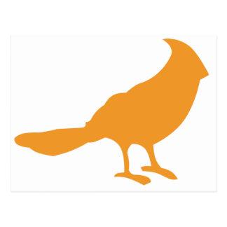 Carte Postale Mettez un oiseau là-dessus (l'orange)