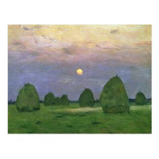 Carte Postale Meules de foin au crépuscule, 1899