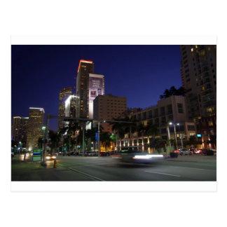 Carte Postale Miami du centre par nuit